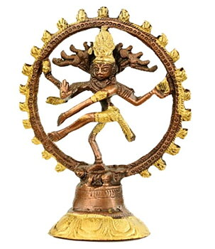Two Colour Brass Statue - Nataraja Dancing Shiva