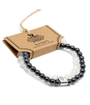 Gemstone Bracelet - Magnetic Hematite & Rock Quartz