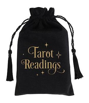 Tarot Card Bag - Black Velvet Tarot Readings Pouch