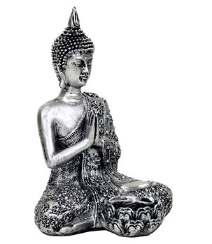 Amitabha Thai Buddha - Silvery Tealight Holder 21cm