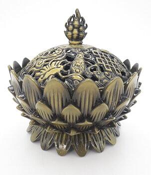 Charcoal Burner - Metal Tibetan Lotus Flower