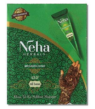 Neha Herbals Oil Base Tattoo Henna - Mehandi Cone, 25g