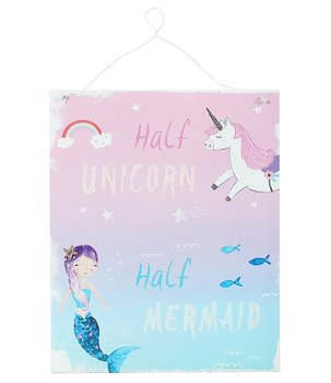 Half Unicorn Half Mermaid - Metal Sign, 24x19cm