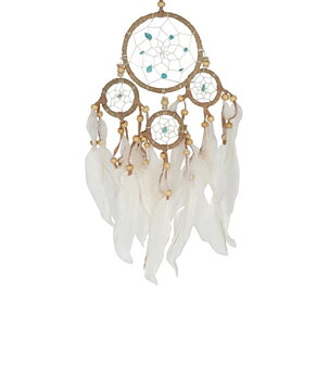 Dream Catcher Multi 4 - Hemp Wrapped with Turquoise 9cm