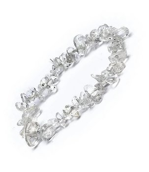 Gemstone Chip Bracelet - Clear Quartz