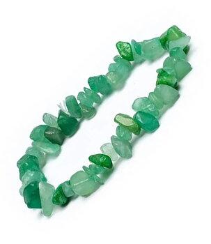 Gemstone Chip Bracelet - Green Aventurine