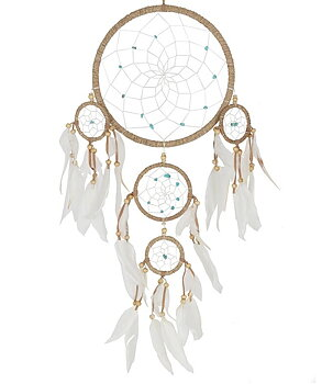 Dream Catcher Multi 5 - Hemp Wrapped with Turquoise 22cm