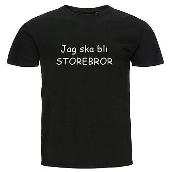 Barn T-shirt - Jag ska bli storebror, Svart