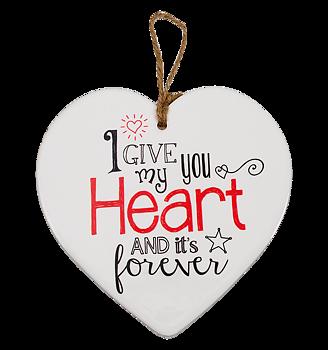 Skylt, Message heart - I give you my heart