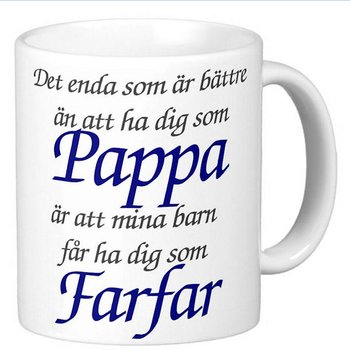 Mugg - Pappa - Farfar