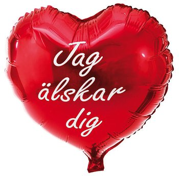 Folieballong, Hjärta, Jag älskar dig