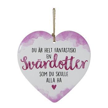 Skylt, Enjoy heart - Svärdotter