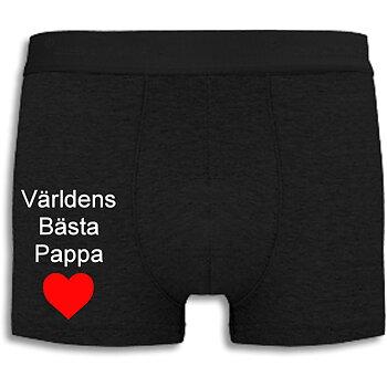 Boxershorts - Världens Bästa Pappa med rött hjärta