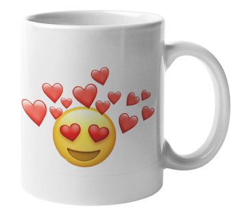 Mugg - Emoji, Hjärtan