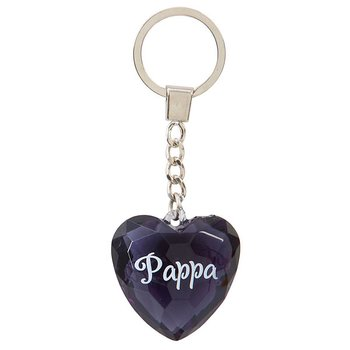 Nyckelring, Diamond heart - Pappa