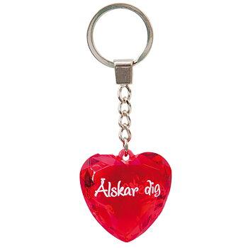 Nyckelring, Diamond heart - Älskar dig