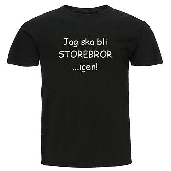 Barn T-shirt - Jag ska bli storebror...igen!