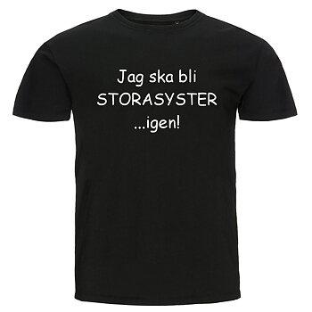 Barn T-shirt - Jag ska bli storasyster...igen!