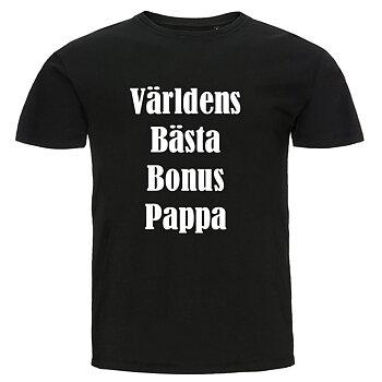 T-shirt - Världens bästa bonuspappa