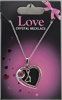 Halsband, Crystal love med bokstav