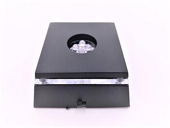 Ljusbox - Svart, skiftande färger 7x7 cm