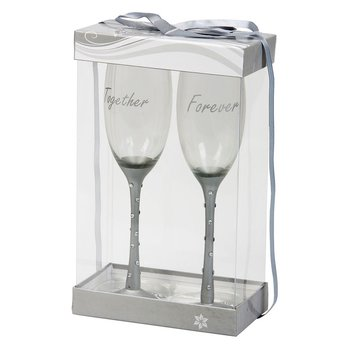 Champagneglas med strass - Together Forever