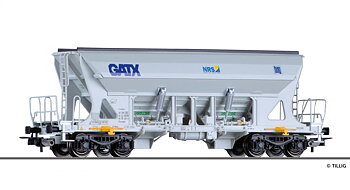 Hopper car Faccns of the GATX / Nordic Rail Service / Basalt