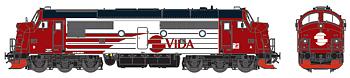 Diesellok VIDA TMX 1024 (DC m ljud)