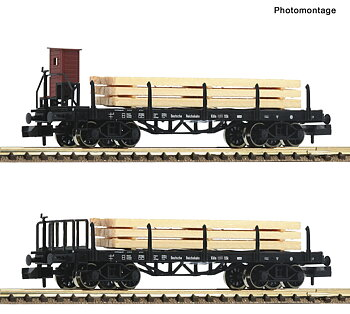 2 piece set stake wagons