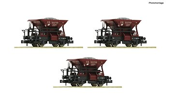 3 piece set ballast wagons