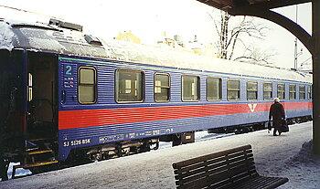 Personvagn SJ B5K 5126 'Inter Regio', blå