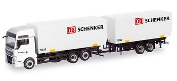 "MAN TGX XXL swap-body trailer truck ""DB Schenker"""