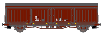 Godsvagn SJ Hbis 21 RIV 74 SJ 211 5 915-3