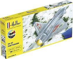 Saab JA-37 Jaktviggen inkl. pensel/färg/lim 1/72