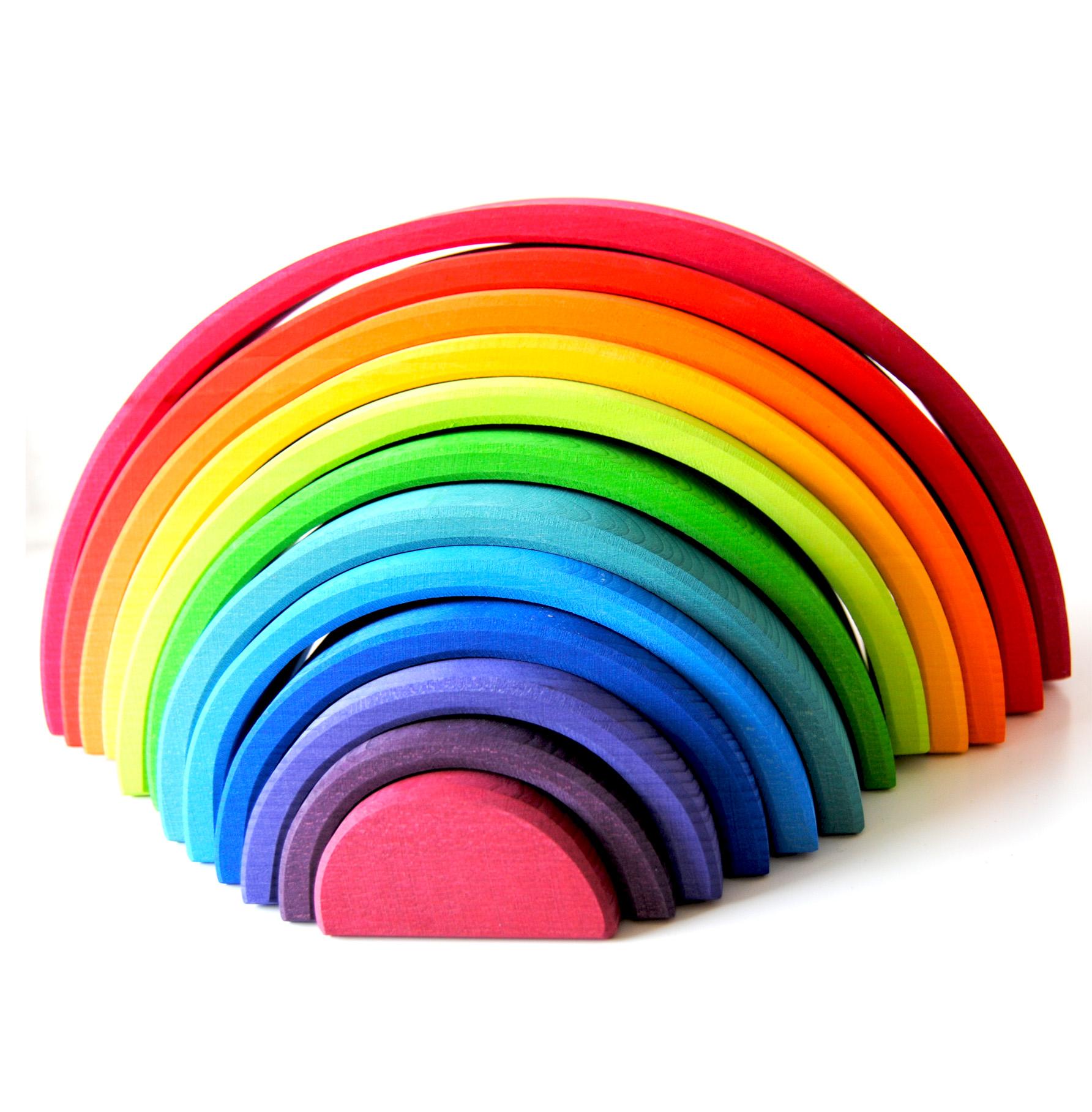Stor regnbåge från  Grimms - 12 delar (12 pieces rainbow)