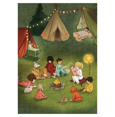 Campfire stories, Belle & Boo Postcard, Vykort från Belle & Boo