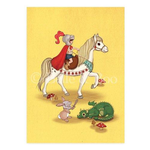Knights & Dragons Postcard, Vykort från Belle & Boo