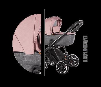 Barnvagnspaket 3i1 Baby Merc La Rosa