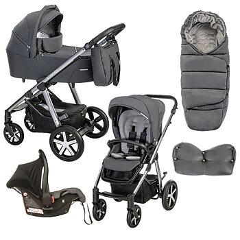 Barnvagnspaket Husky 2021, Baby Design, 3i1 (max vikt 22kg)