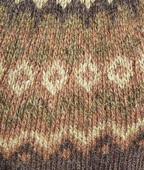 Riddari- Brunsvart med brun och grön mönsterfärg- S/M
