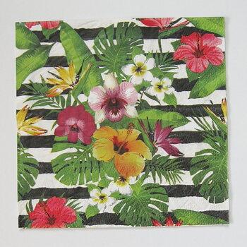 Matservetter. Exotiska blommor/Rand