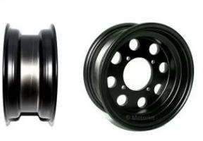 "8"" alloy rims 8 hole CNC Black"