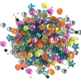Buttons Galore - Sparkletz - Rainbow