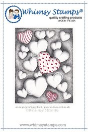 Whimsy Stamps - Cling Stamp - Hearts Floating