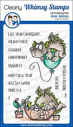 Whimsy Stamps - Clear Stamps - Dragon New Year