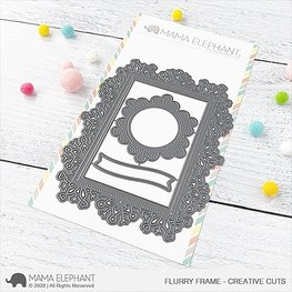 Mama Elephant - Flurry Frame - Creative Cuts