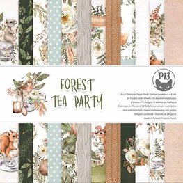 "P13 - Forest Tea Party - Paper Pad 6""x6"""