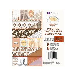 "Prima Marketing - Golden Desert - Paper Pad 6""X6"""