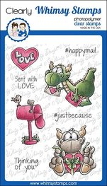 Whimsy Stamps - Clear Stamps - Dudley's Mailed with Love