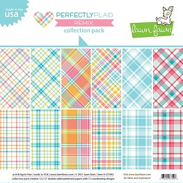 "Lawn Fawn - Perfectly Plaid Remix - Collection Pack 12""X12"""